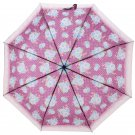 Funky Purple Chintz Handy Size UMBRELLA Folding Brolly