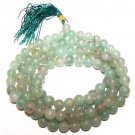 MALA BEADS Green Aventurine Gemstone Prayer Worry Rosary Beads