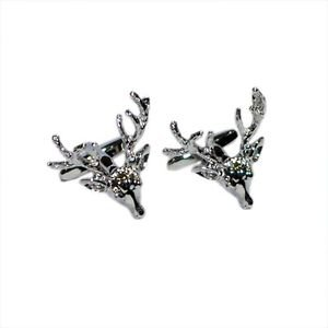 Mens Jewellery Cufflinks - Stags Head with Full Antlers Cufflinks