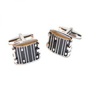 Gents Cufflinks Drum Design Cufflinks Musical Instrument Cufflinks