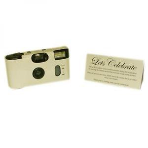Ivory Single Use Disposable Camera Celebration Cameras Free Matching Tablecard