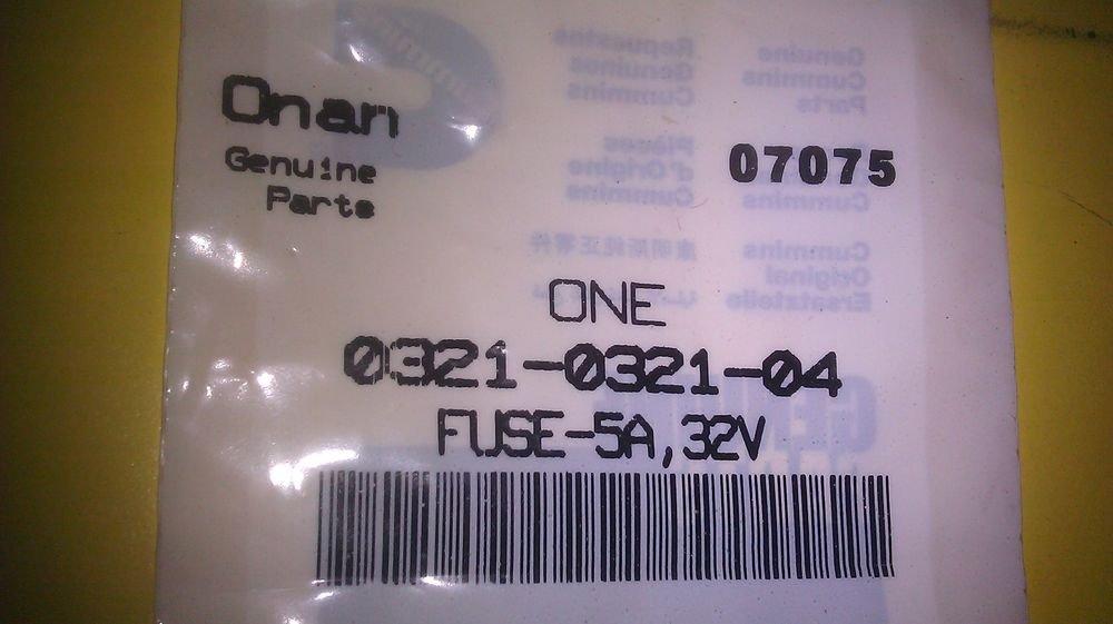 Genuine Onan 5 Amp    32 Volt Fuse 0321  0321032104