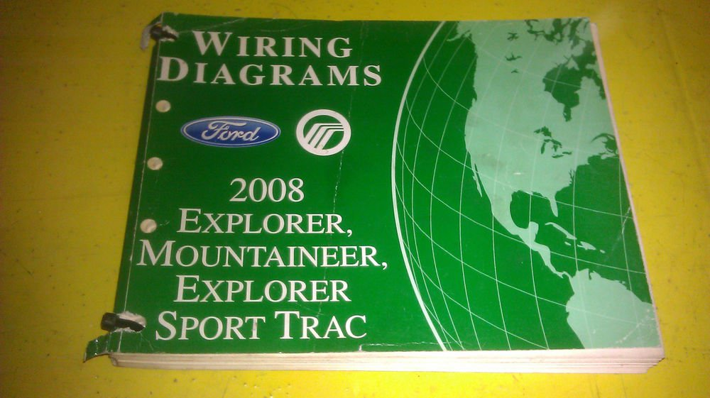 Genuine Ford Explorer Mountaineer Sport Trac 2008 Wiring