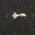 Created Emerald and diamond ring