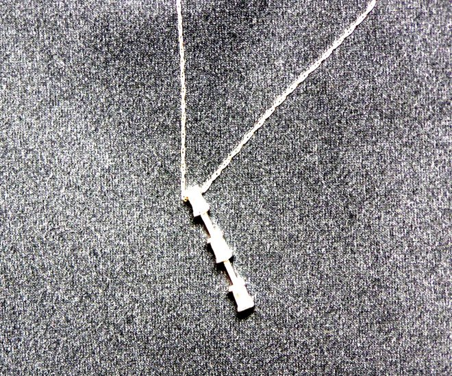 Diamond 3 Stone (Past,Present,Future) Necklace