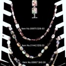 Item No.00957  Abalone Necklace in Non-Metal Setting