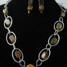 Item No.00057  Tiger Eye Bracelet in Artisan Metal Setting