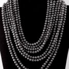 Item No. 00405 Tahitian Pearl Multi-strand necklace