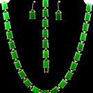 Item No.00046  Jade Set in Artisan Metal Setting