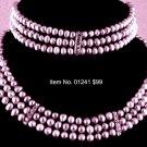 Item No. 01241 Pearl Set, Set in Artisan Metal Setting