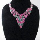 Item No.01157 Tribal Natural Ruby Necklace in Sterling Setting