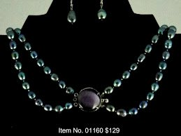 Item No. 01160 Pearl Necklace in Sterling Setting