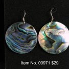 Item No. 00971 Abalone Earrings in Sterling Setting