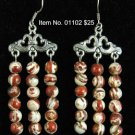Item No. 01102 Jasper Earrings in Sterling Setting