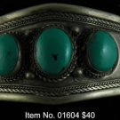 Item No. 01604 Tribal Turquoise Bracelet in Artisan Metal Setting