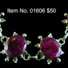 Item No. 01606 Tribal Natural Ruby Bracelet in Sterling Setting