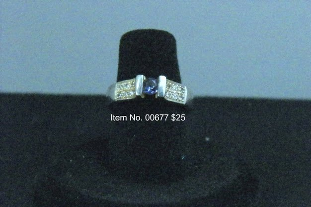 Item No. 00677 Iolite Ring in Sterling Setting