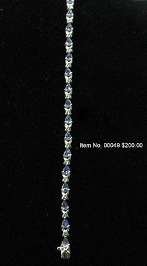 Item No. 00049 Tanzanite Bracelet in Sterling Setting