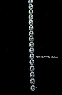 Item No. 00785 Tanzanite Bracelet in 14K White Gold Setting