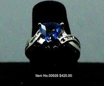 Item No. 00928 Tanzanite Ring: in 10K White Gold Setting