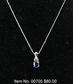 Item No. 00705 Tanzanite Necklace