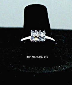 Item No. 00080 Tanzanite ring in 10K White Gold