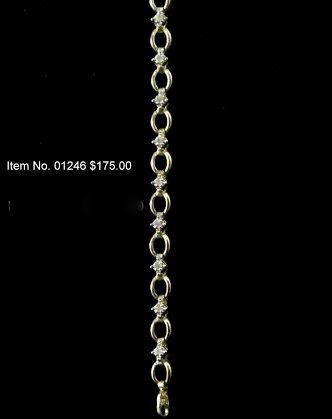 Item No. 01246 Diamond Bracelet in 14K yellow gold