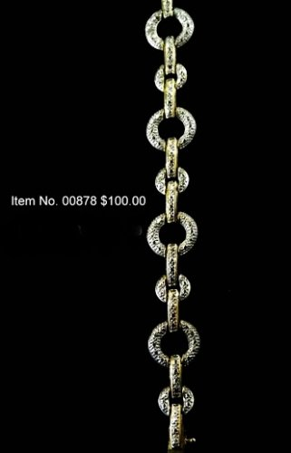 Item No. 00878 Diamond Bracelet in 10 Yellow Gold over sterling Setting