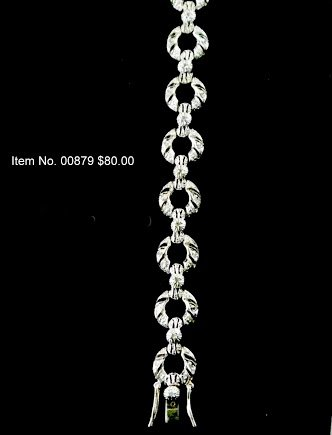Item No. 00879 Diamond Bracelet in Sterling Setting