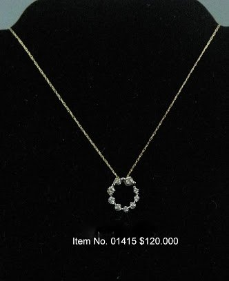 Item No. 01415 Diamond Necklace in 10 Yellow Gold Setting