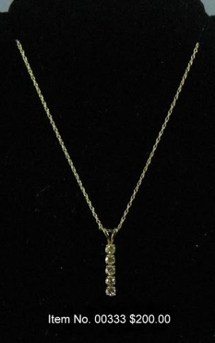 Item No. 00333 Diamond Necklace in 14K Yellow Gold Setting