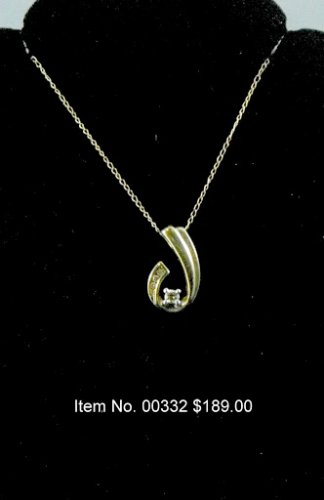 Item No. 00332 Diamond Necklace in 10 Yellow Gold Setting