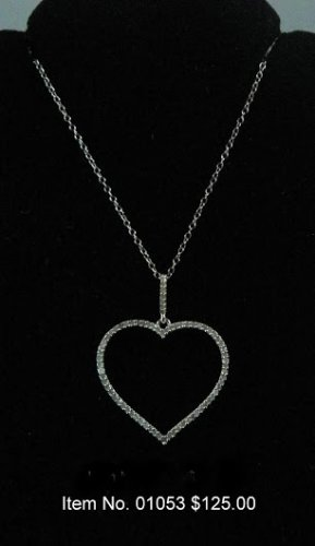 Item No. 01053 Diamond Necklace in Sterling Setting