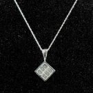 Item No. 00329 Diamond Necklace in 14K White Gold Setting