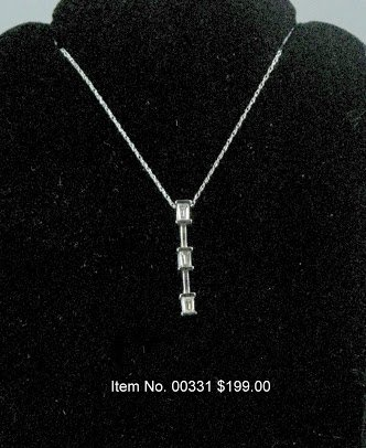 Item No. 00331 Diamond Necklace in 10K White Gold Setting