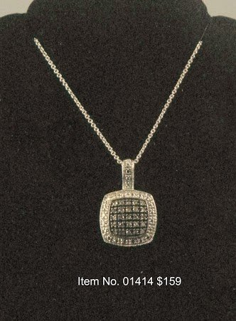Item No. 01414 Diamond Necklace in Sterling Setting