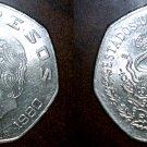 1980 Mexican 10 Peso World Coin - Mexico - Costilla