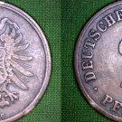 1875 C German 2 Pfennig World Coin -  Germany