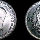 1950 Sweden 2 Kronor Krona  World Silver Coin
