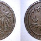1910 Austrian 2 Heller World Coin - Austria