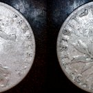 1910 French 50 Centimes World Silver Coin -  France