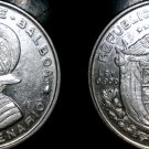 1953 Panamanian 1/4 Balboa World Silver Coin - Panama