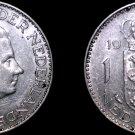 1965 Netherlands 1 Gulden World Silver Coin