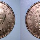1951 New Zealand Half 1/2 Penny World Coin