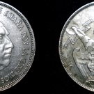 1957 (64) Spanish 25 Peseta World Coin - Spain Caudillo