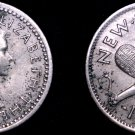 1954 New Zealand 3 Pence World Coin