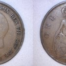 1928 One Penny World Coin - Great Britain - UK - England