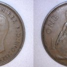 1938 One Penny World Coin - Great Britain - UK - England