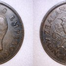 1940 New Zealand One Penny World Coin