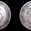1929 Panamanian 5 Centesimo World Coin - Panama